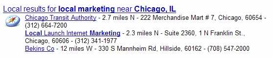 Google Search Results with Local Listings