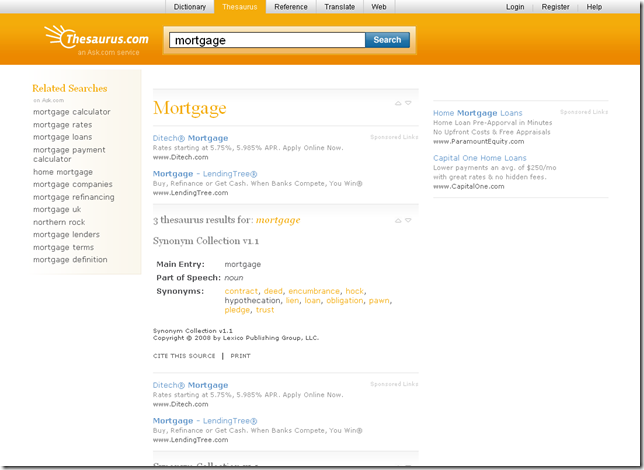 mortgage synonym - Thesaurus.com_1220713441684