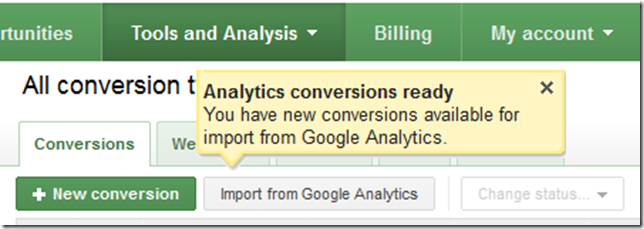 Import From Google Analytics Icon