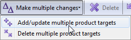In the AdWords Editor click Add/update multiple product targets