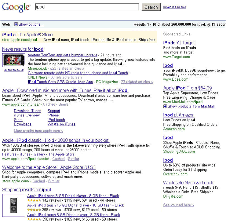 old-google-serp